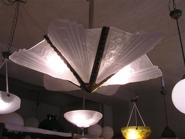 Art nouveau deco ceiling fan tiffany glass lamp shades art
